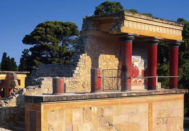 El mítico Palacio de Knossos en Creta