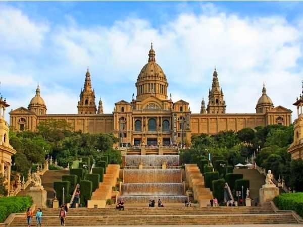 El Palacio Nacional de Montjuic, en Barcelona