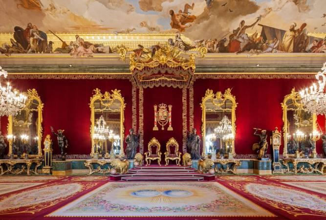 Salón del Trono del Palacio Real de Madrid