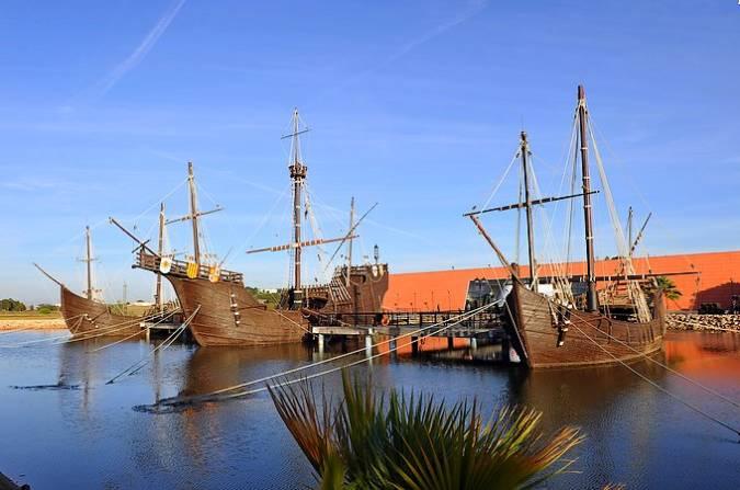 Reproducción de las Carabelas de Colón en Palos de la Frontera, Huelva