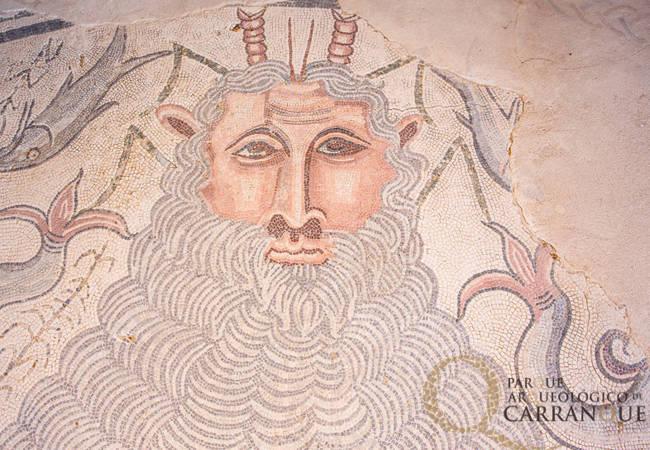 Mosaico del parque arqueológico de Carranque