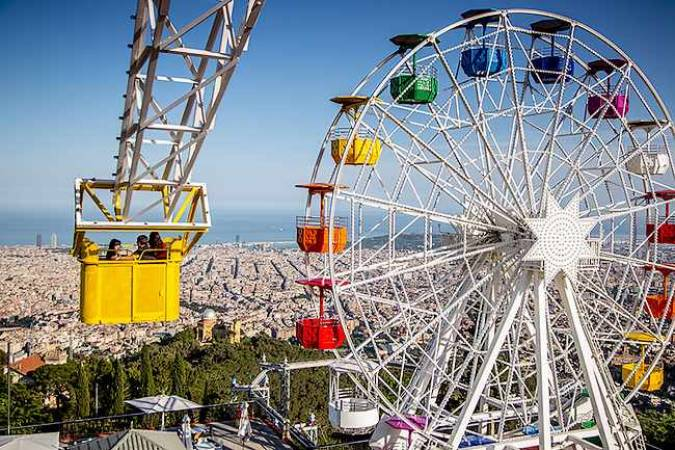 El parque de atracciones Tibidabo, en Barcelona