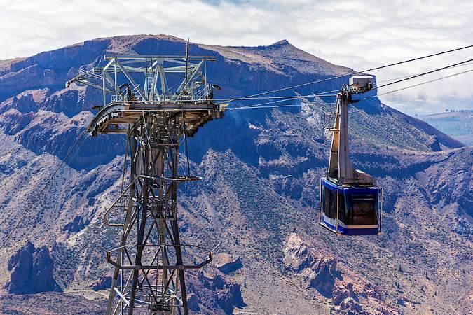 Teleférico del Parque Nacional del Teide, en Tenerife