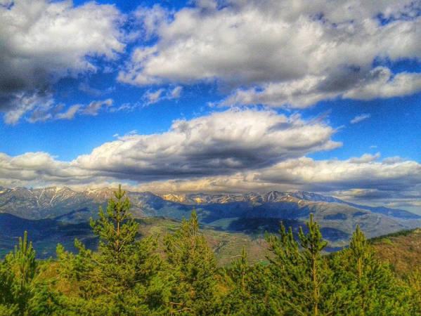 Vistas desde el mirador del Parque Temático de las Brujas en Laspaúles, Huesca