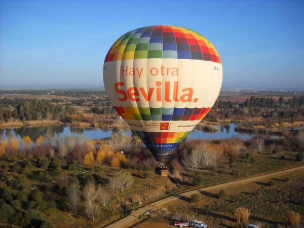 Paseo en globo por el Parque Nacional de Doñana