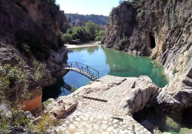 Pozas del Paraje del río Sellent, en Bolbaite