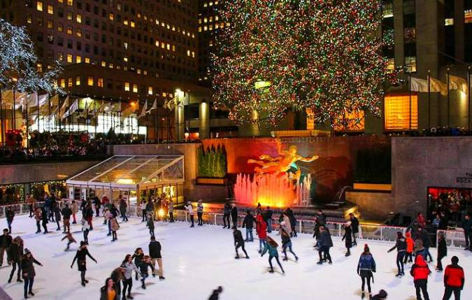 Pista de hielo del Rockfeller Center en Nueva York