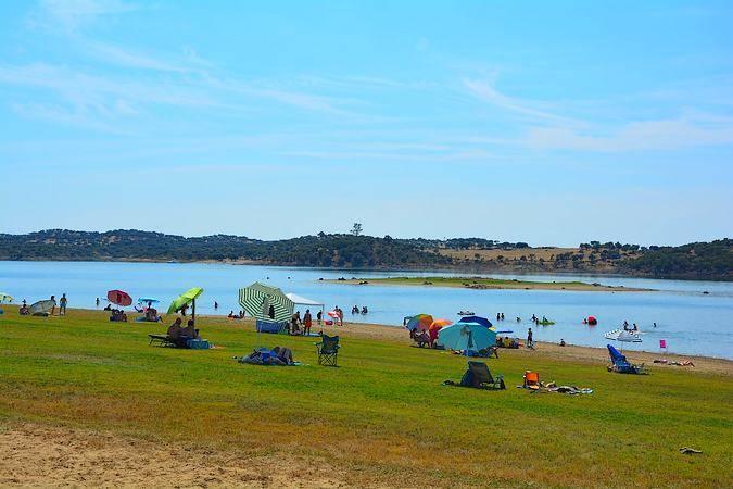 Playa de Cheles, en Badajoz