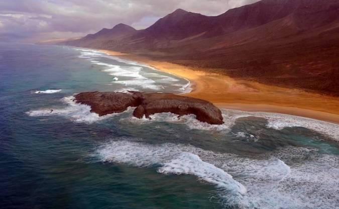 El Islote, en la playa de Cofete, Fuerteventura