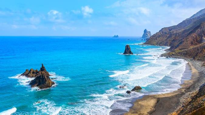 La bella Playa de Almáciga, en la isla de Tenerife