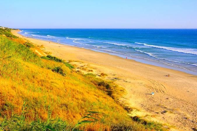 La impresionante Playa de la Barrosa, en Cádiz