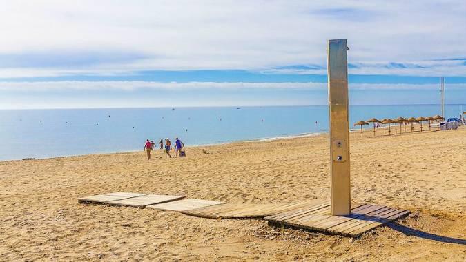 La Playa de Marina de la Torre, en Mojácar