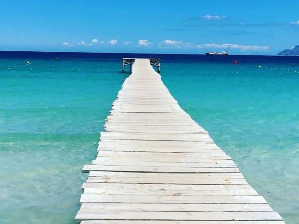 Pasarelas en la playa de Muro, en Mallorca