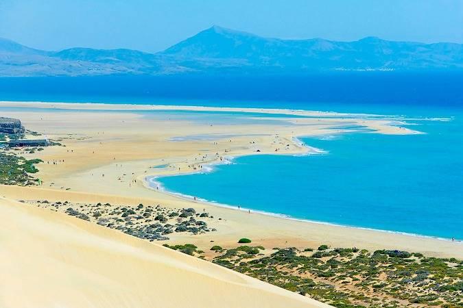 La Playa De Sotavento En Fuerteventura