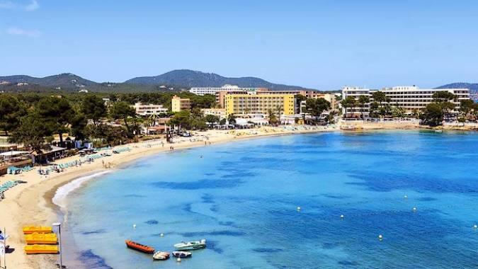 Playa Es Caná, en Ibiza