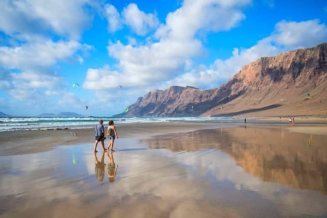 La Playa de Famara, en Lanzarote