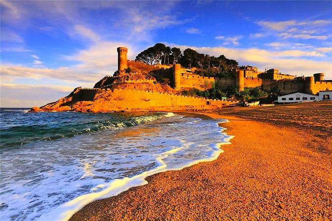 La Playa Gran de Tossa de Mar, en Girona