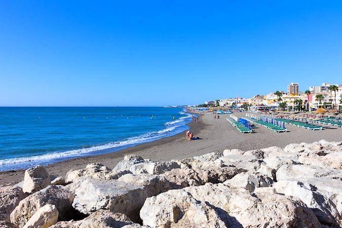 La Playa de La Carihuela, en Torremolinos