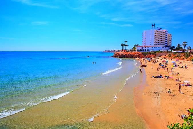 Playa de la Zenia, en Orihuela Costa, Alicante