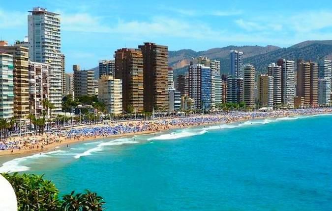 La Playa de Levante de Benidorm, en Alicante