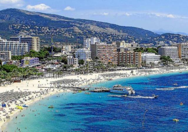 La Playa de Magaluf, en Mallorca