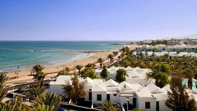 La tranquila Playa de Matagorda, en Lanzarote