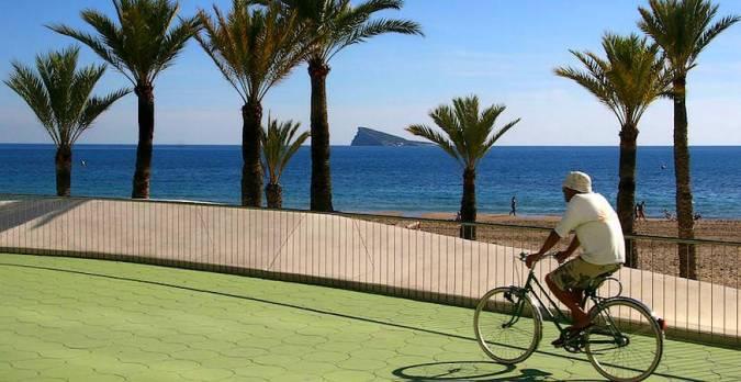 La Playa de Poniente, en Benidorm, Alicante