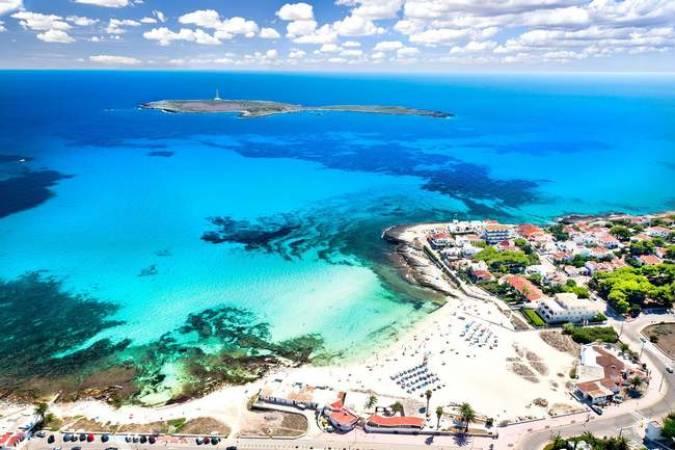 La playa de Punta prima, en Menorca