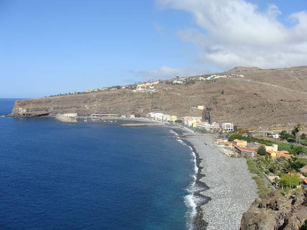 Playa Santiago, en la isla canaria de La Gomera