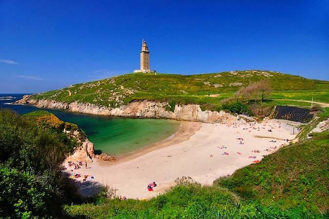 Playas en la ciudad de A Coruña