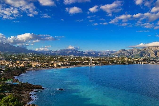 Las playas de Alfaz del Pi, en Alicante