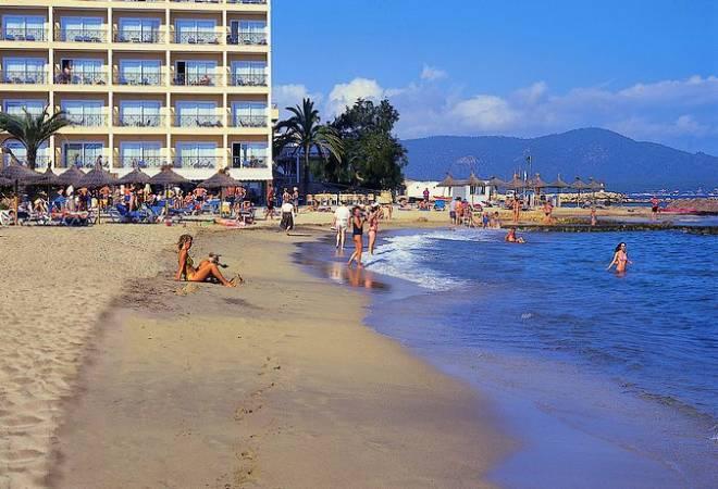Playa Cala Bona, en Cala Millor, Mallorca