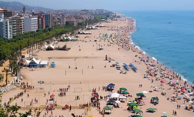 Playa Grande de Calella, en la provincia de Barcelona