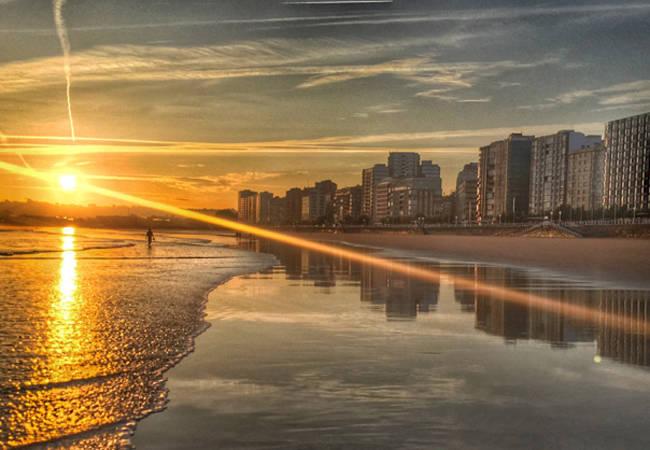 Las maravillosas playas de Gijón