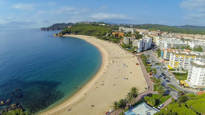 Playa de Fenals, en Lloret de Mar