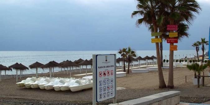 Playa de Linda Vista, en Marbella