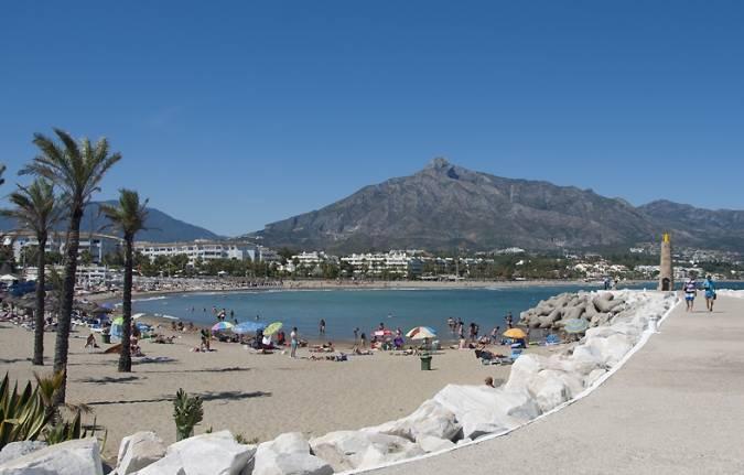 Playa de Puerto Banús, en Marbella