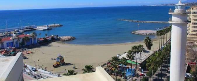 Playa El Faro, en Marbella