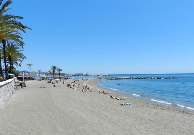 Playa de la Bajadilla, en Marbella