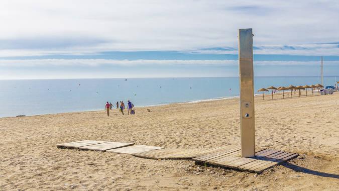Playa Marina de la Torre, en Mojácar, Almería