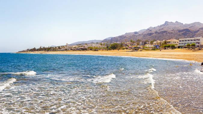 Playa del Descargador, en Mojácar, Almería