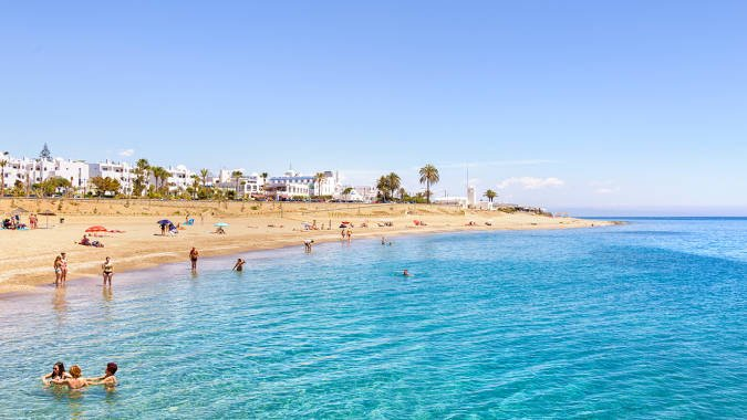 Playa El Cantal, en Mojácar, Almería
