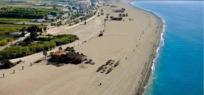 Playa Poniente, en Motril