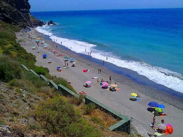 Playa de la Joya, en Motril