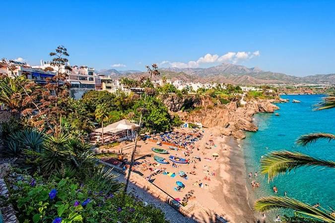 Las playas de Nerja, en Málaga