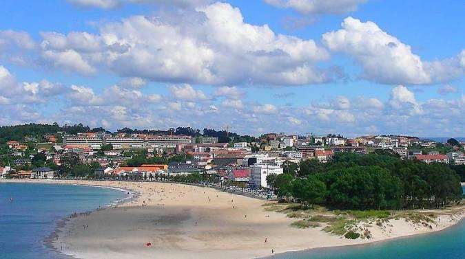 Playa de Santa Cristina, en Oleiros, A Coruña