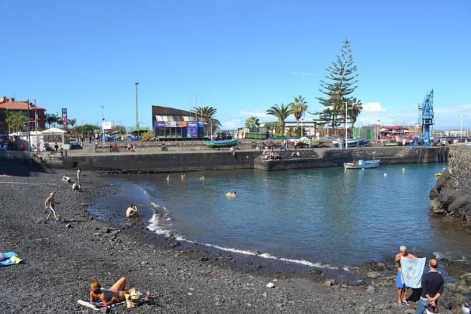 Playa El Muelle, en el Puerto de la Cruz, Tenerife