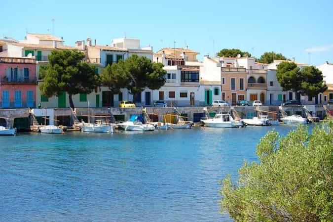 Es Riuetó, el casco antiguo de Porto Colom, en Mallorca