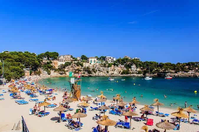 Playa de Porto Cristo, en Mallorca