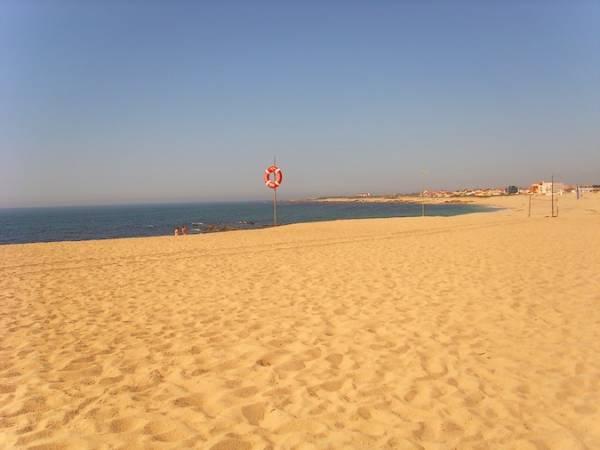 Playa de Fragosa, en Póvoa de Varzim, en Portugal